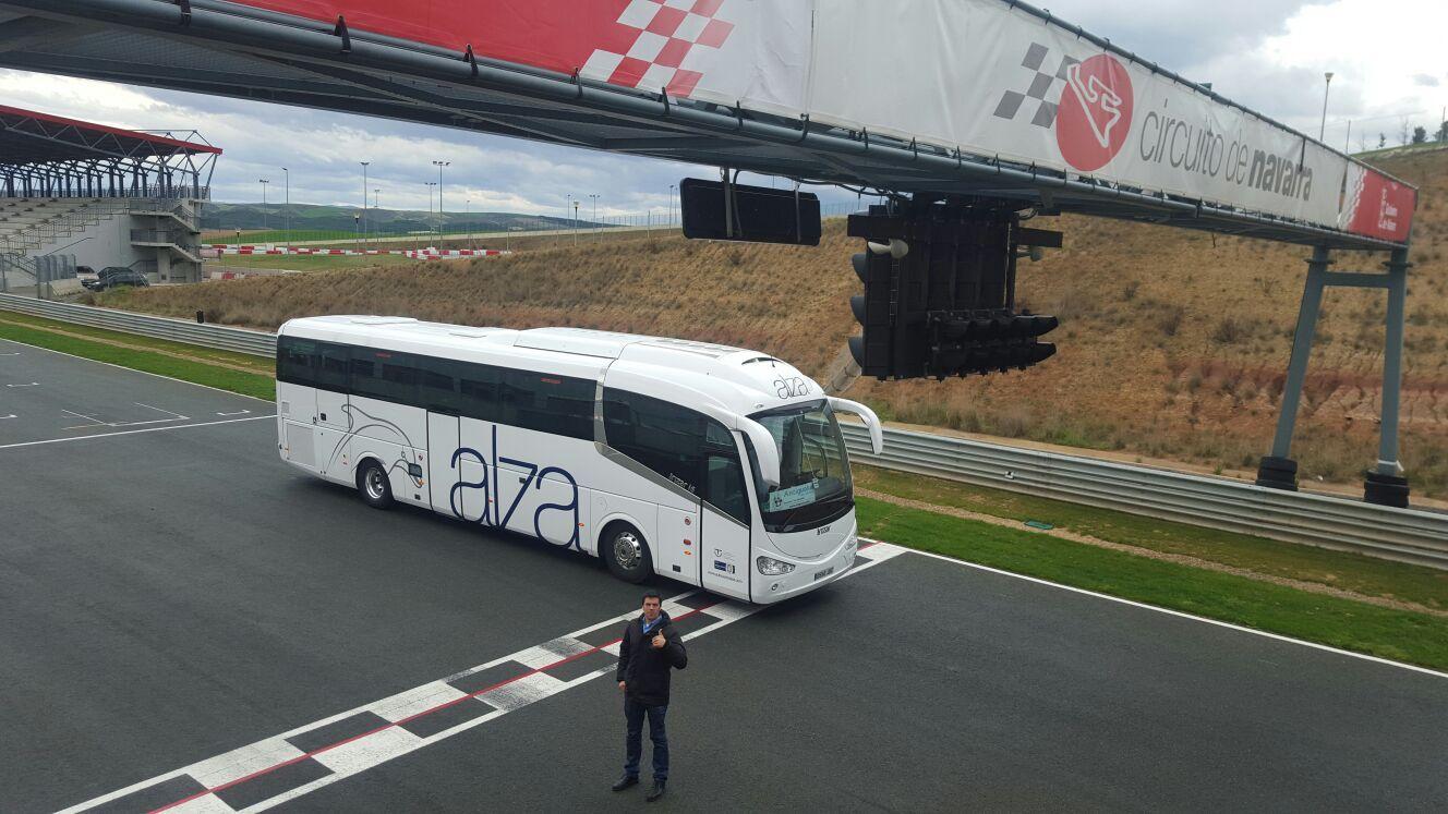 Circuito Los Arcos : Entrada de meta en el circuito los arcos autocaresalza