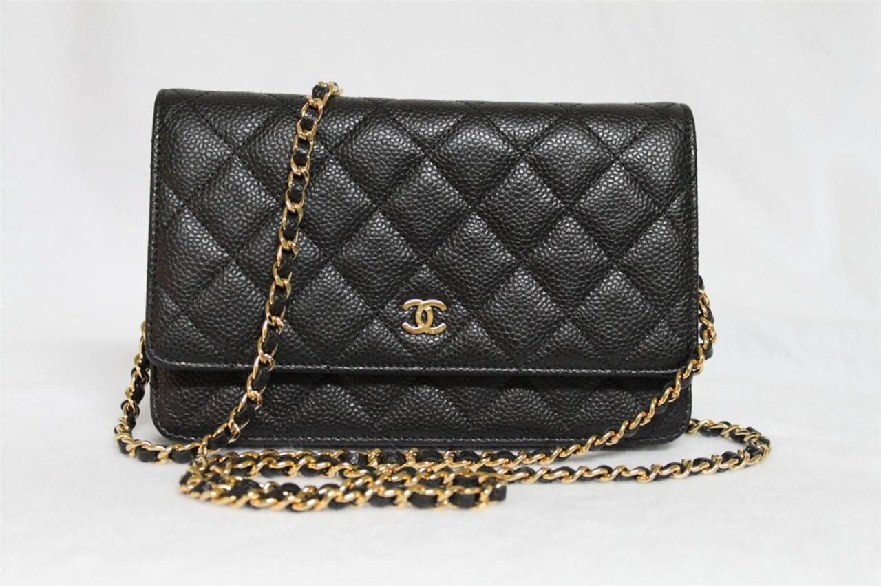 fc51689680f7 Chanel W.O.C caviar leather and gold hardware.