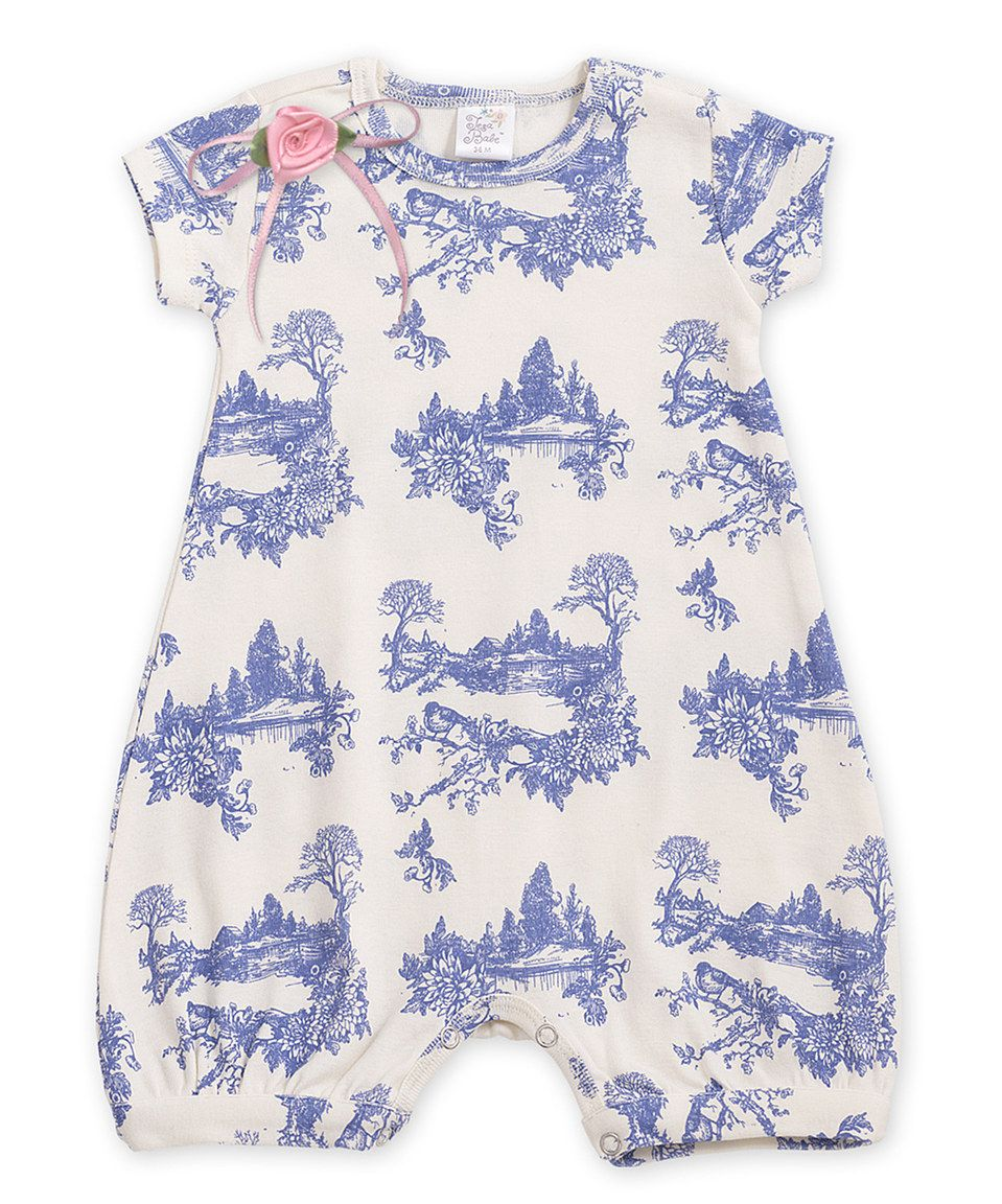 5116b0e7936a Another great find on  zulily! Tesa Babe Blue Toile Bubble Romper by ...