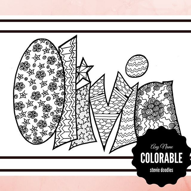 Oh Olivia So Sweet On Tuesdays And So Feisty Full Of Fire On Thursdays May Your Finished Printable Adult Coloring Pages Doodles Printable Adult Coloring