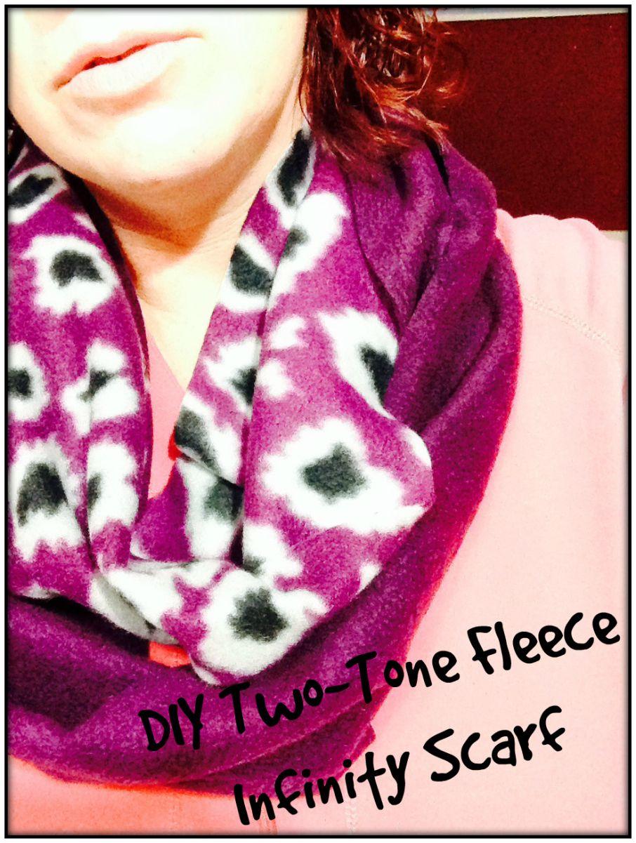 DIY Two-Tone Fleece Infinity Scarf | Tie dye, Women, Fashion