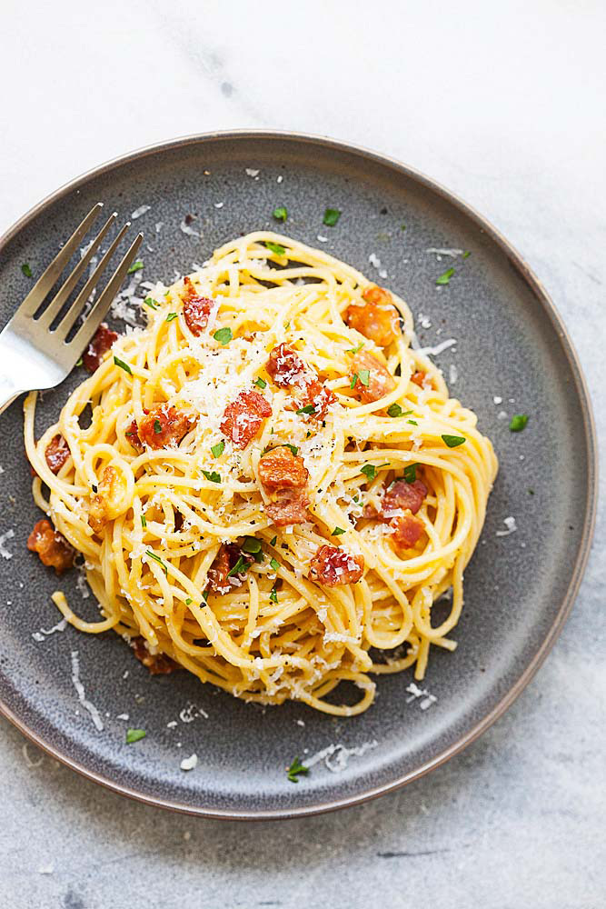 Spaghetti Carbonara (Cheesy and Delicious!!) ⋆ Easy ...  Delicious Pasta Carbonara