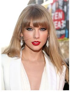 Wigs For Sale Long Blonde Female Taylor Swift Straight Celebrity Hairstyle 20 Inch Taylor Swift Hair Taylor Swift Pictures Long Hair Styles