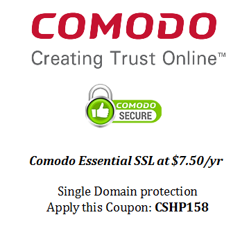 55% OFF Extra on Comodo Essential SSL Certificate secures your ...