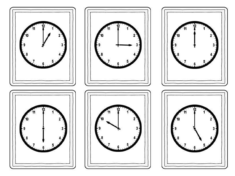 Telling Time Matching Game Telling time, Matching games