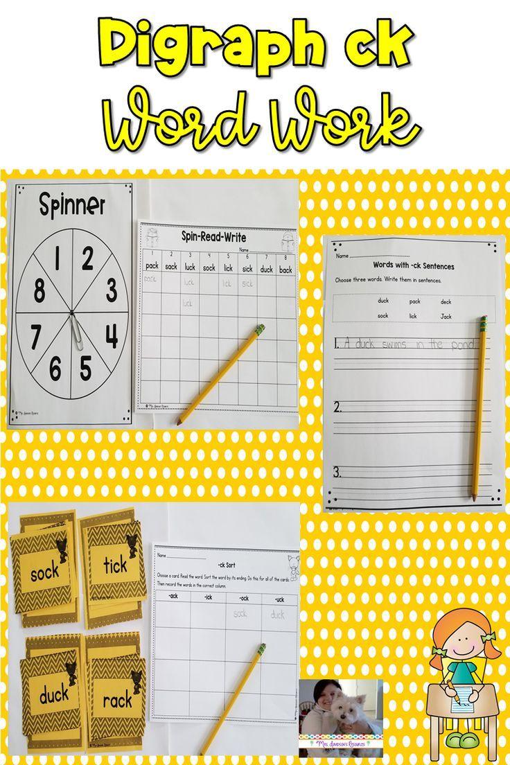 Digraph Ck Worksheets For Kindergarten