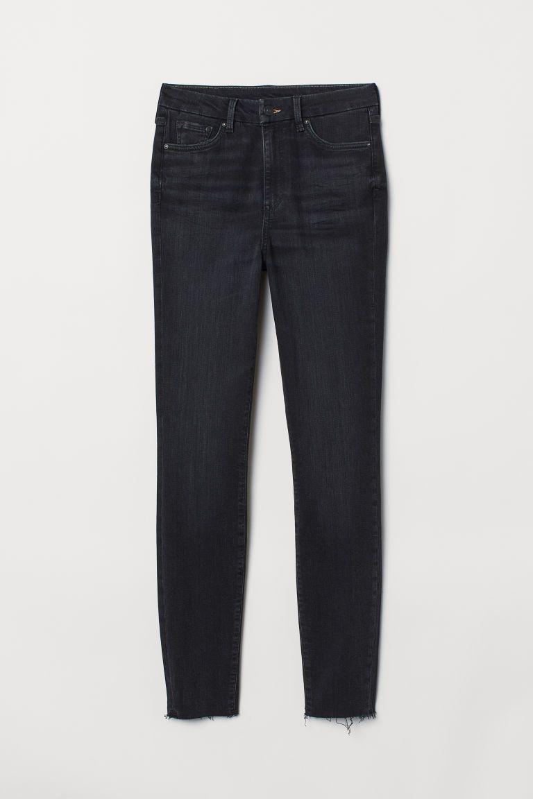 svarta boyfriend jeans dam