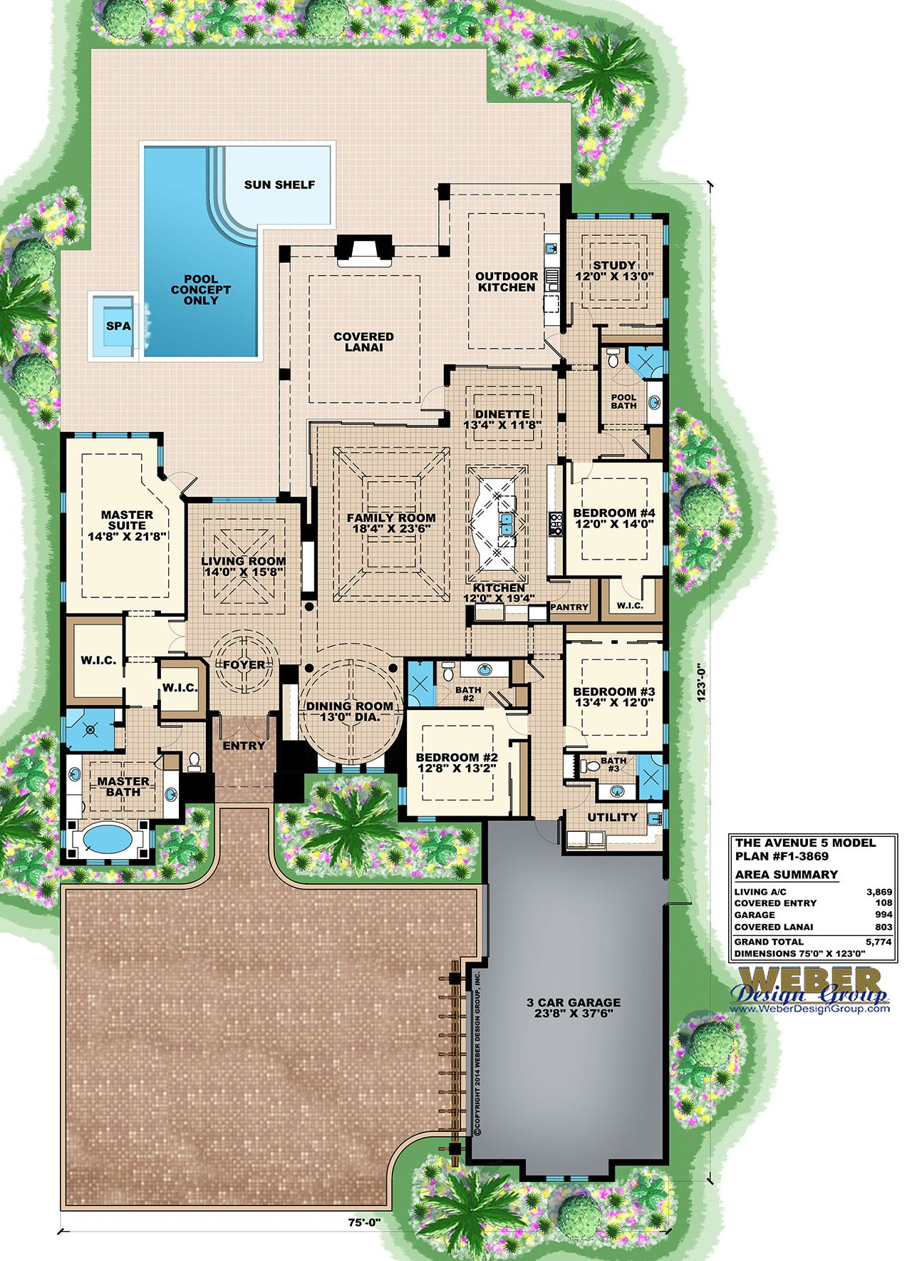 Beach House Plan 1 Story Coastal Contemporary Home Floor Plan Beach House Plans House Floor Plans House Plans