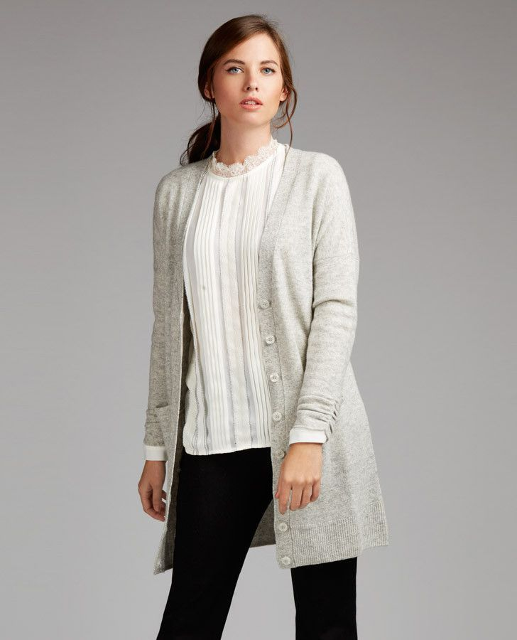 Longline Wool and Linen Cardigan | Linens, Longline cardigan and ...