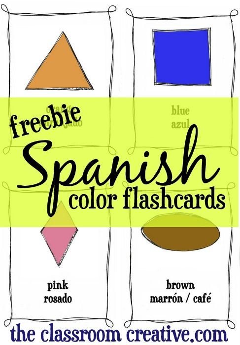 FREEBIE: Spanish color flashcards! You could also print double ...