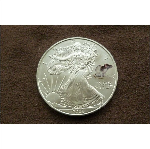 American Silver Eagle 2008 Year Of The Rat 1 Troy Ounce