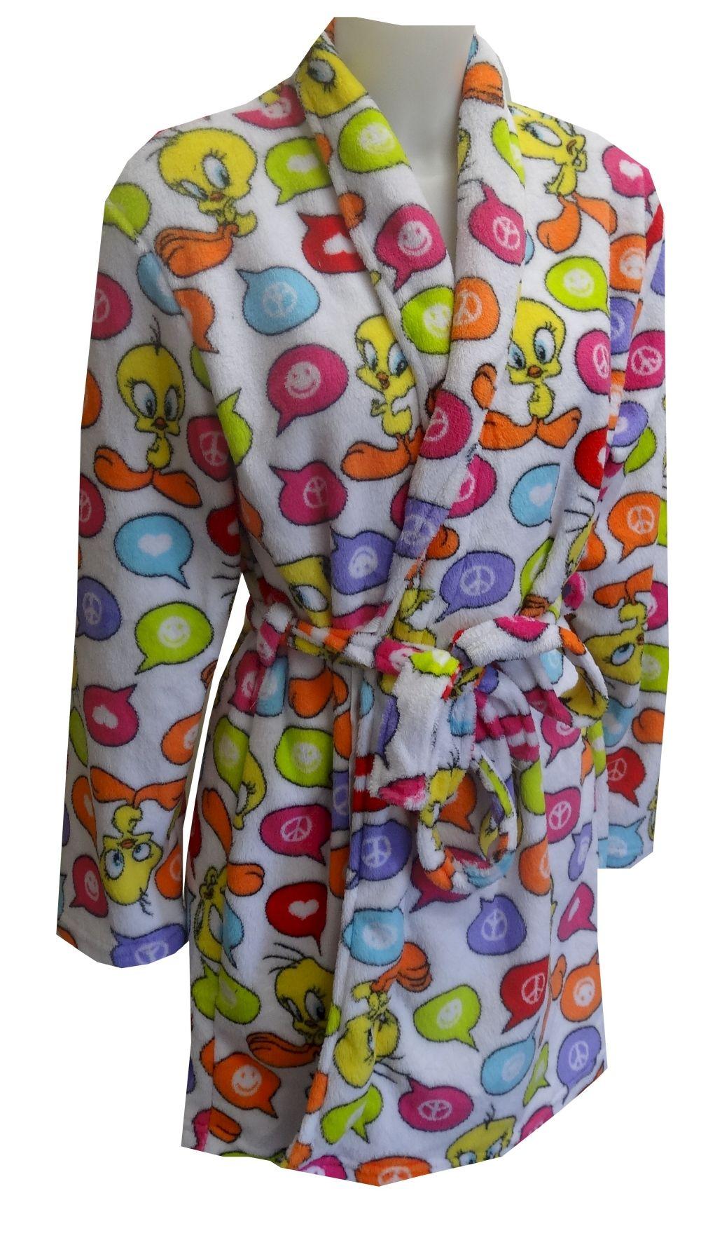 Looney Tunes Tweety Bird Angel Fleece Robe Calling all Tweety Bird fans! These soft angel fleece robes for women feature Looney...