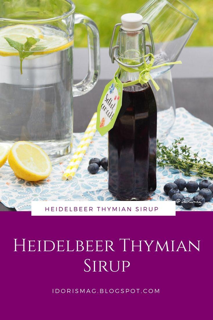 heidelbeer thymian sirup rezept einen k stlichen sirup schnell und einfach selber machen. Black Bedroom Furniture Sets. Home Design Ideas