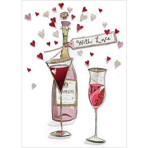 Champagne Luxury Embossed Birthday Greeting Card Greetings Cards