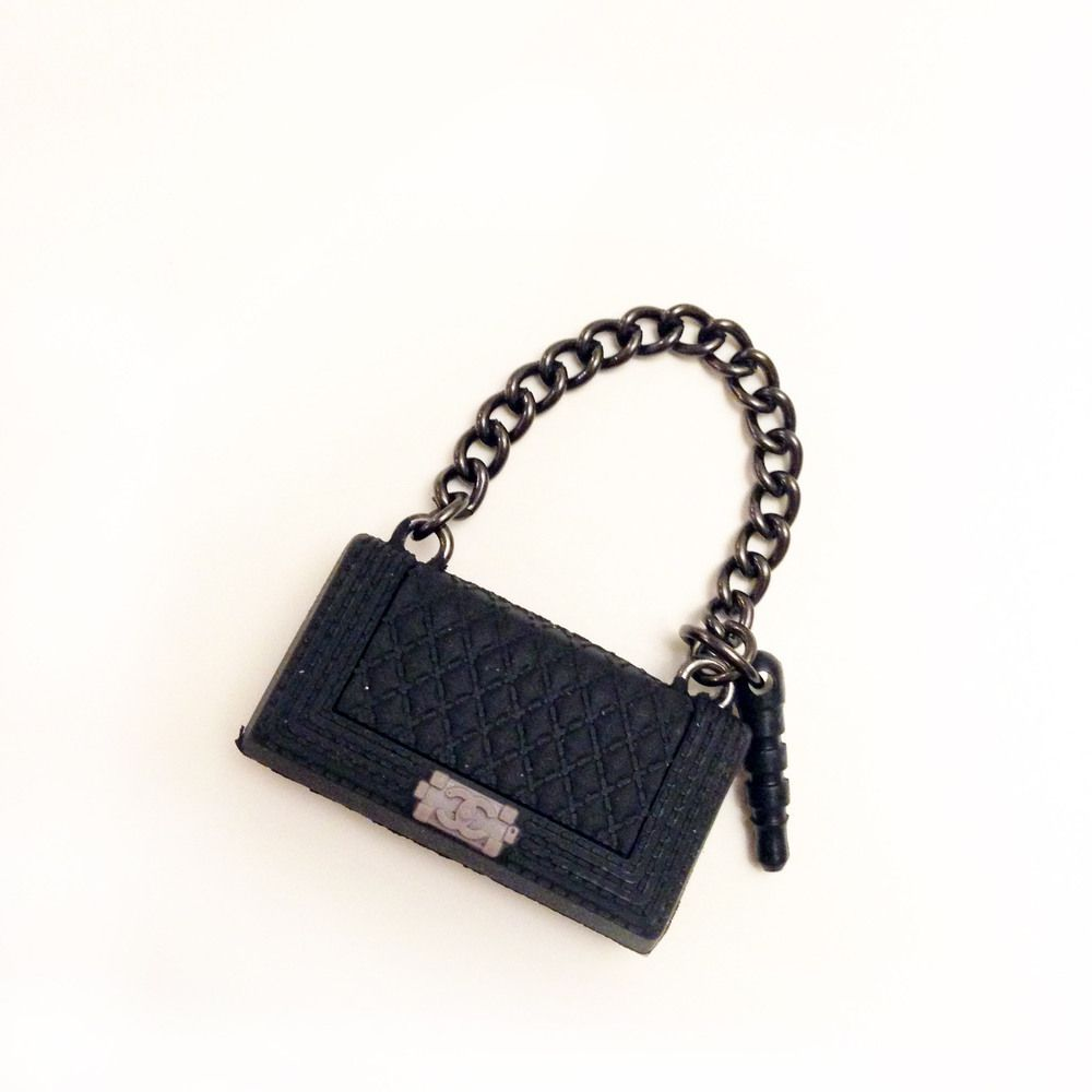 17d752c3e828 Cell Phone Charm Plugs | Image of Chanel Inspired Purse Cell Phone Charm/Dust  Plug