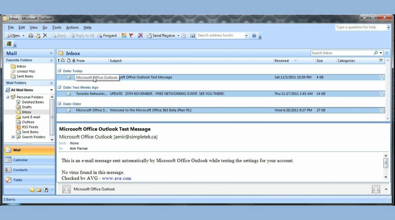 Microsoft Office Outlook 2007 Pt1 Workaholic