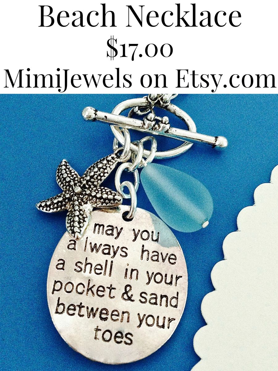 Love this vendor. https://www.etsy.com/listing/186738947/beach-necklace-beach-wedding-beach-quote?ref=shop_home_feat_2
