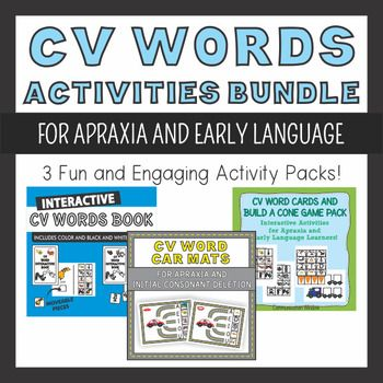 CV Words Activities Bundle for Apraxia and Articulation Apraxia