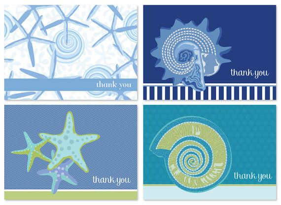 nautical thank you cards thank you cards multipack of 4