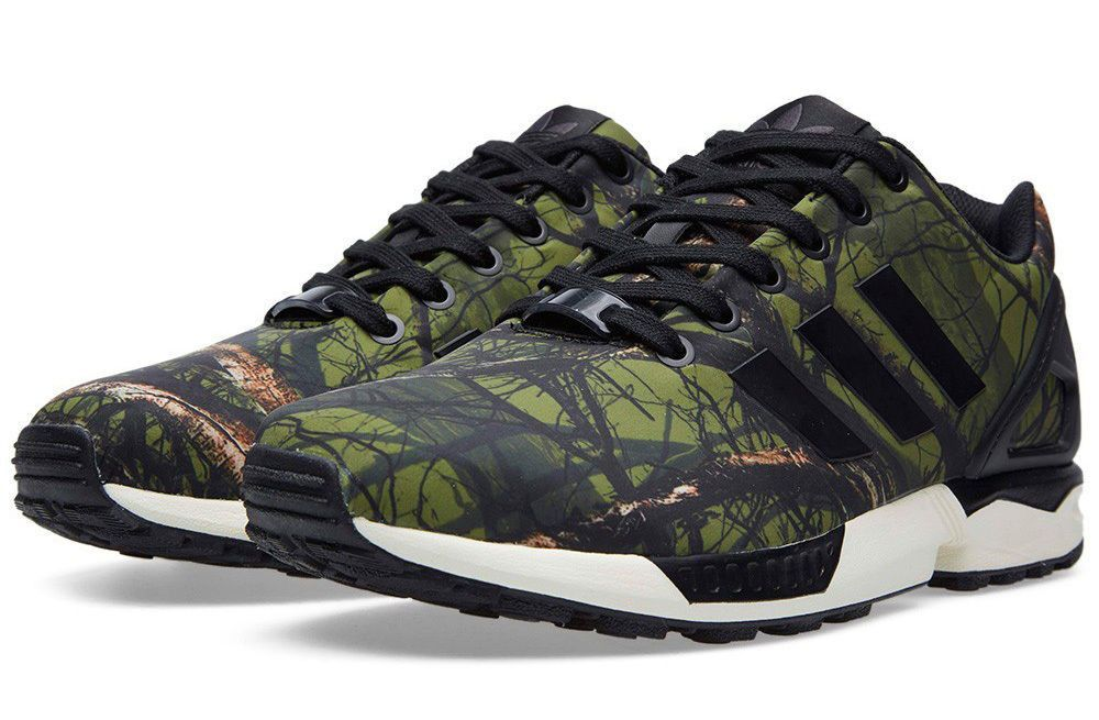 official photos 45f80 d69c6 adidas Originals ZX Flux Camo Forest B34139 Torsion Men Running Shoes