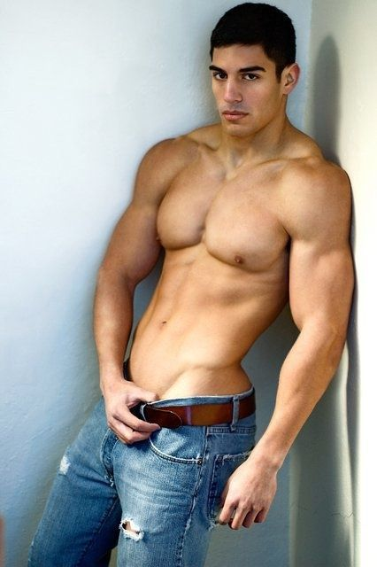 Sexy men in jeans