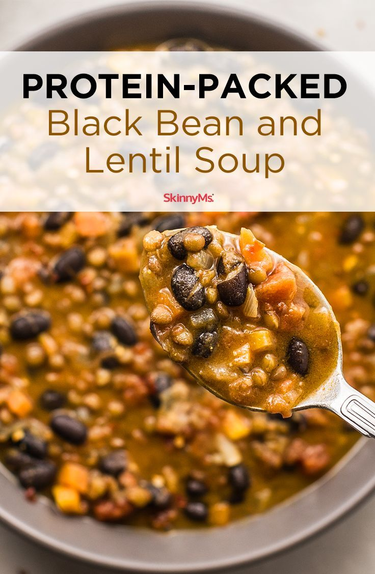 Protein Packed Black Bean And Lentil Soup