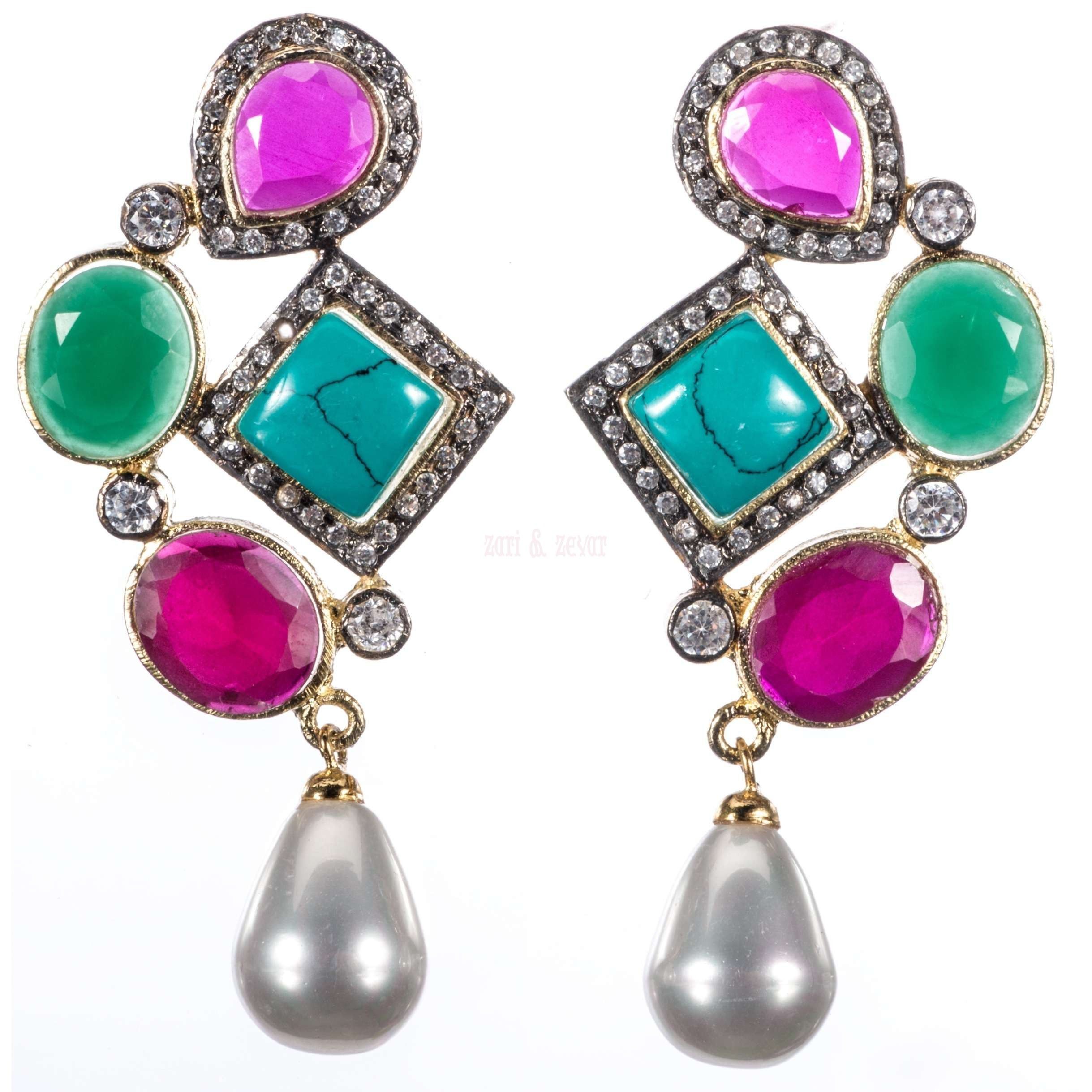 watches sterling silver pearl style over overstock thai freshwater pink jewelry multi earrings tha gemstone mm on thailand free product handmade dangling shipping multicolor orders