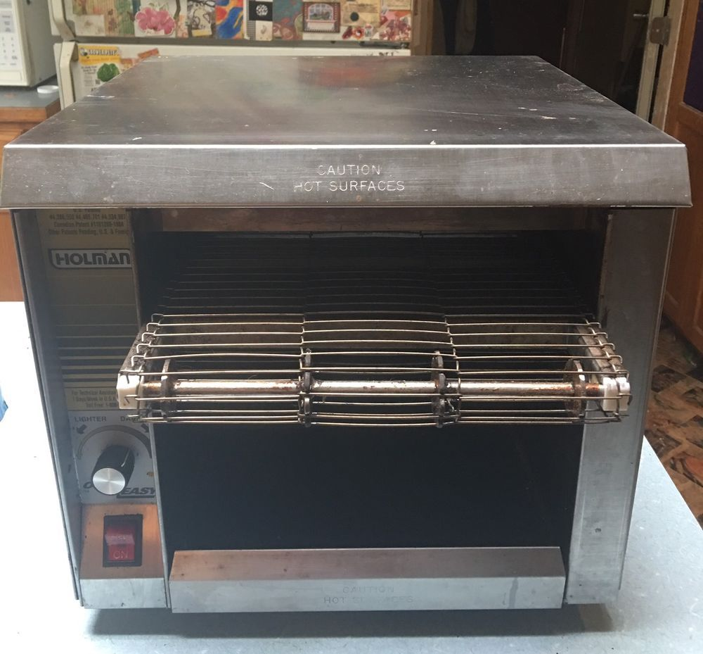 Holman Easy Over Compact Conveyor Toaster Oven 110 Volts Works As Is Ebay Toaster Oven Toaster Small Appliances