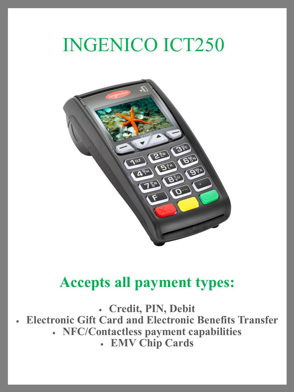 Credit card terminal electronic gift cards credit card