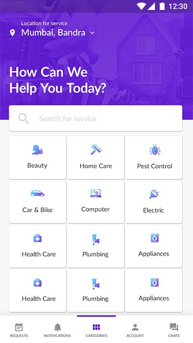Home Service Finder & Provider Android App + iOS App Template
