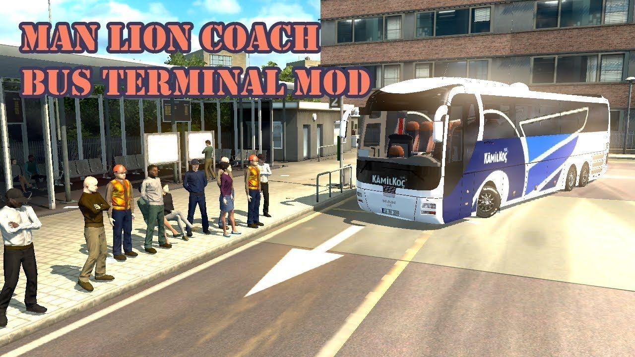 ETS 2 Bus Man Lions Coach and Passenger Transport Test