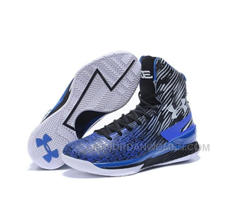 Under Armour Stephen Curry Height Shoes Blue Black White New Release