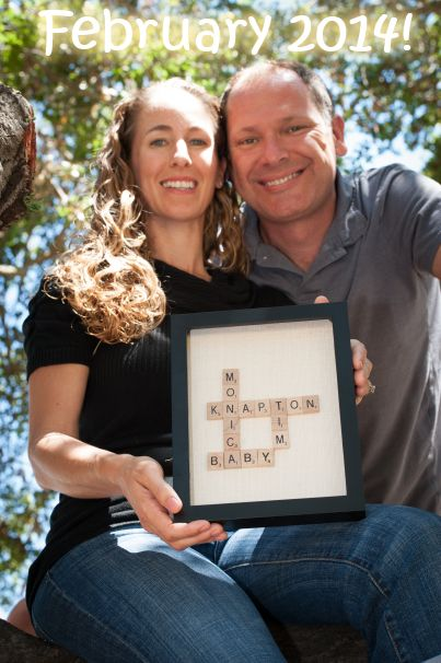 Coming soon Baby announcement with scrabble letters Were – Scrabble Baby Announcement