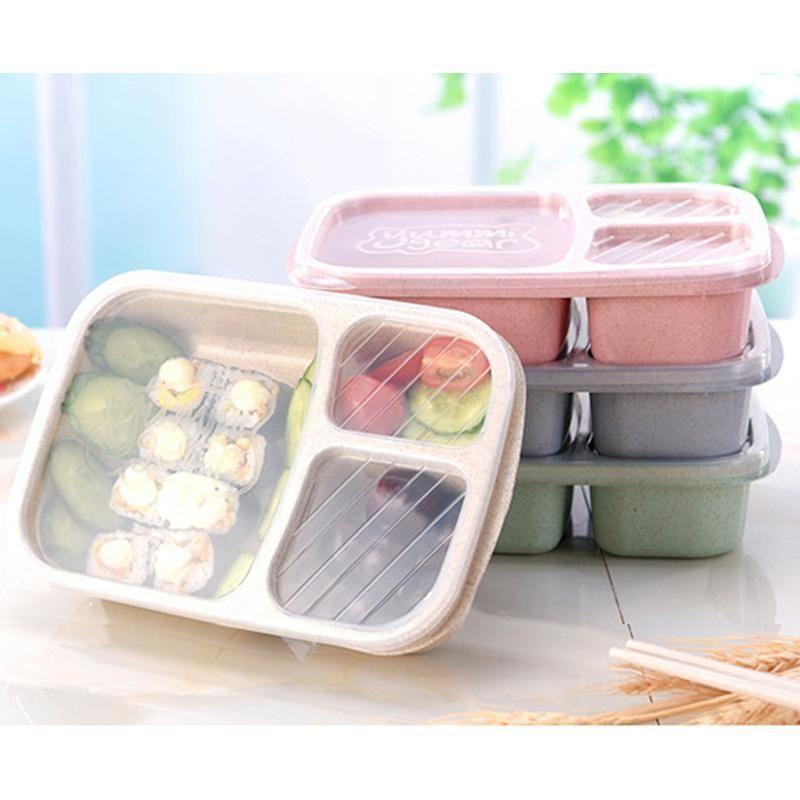 Wheat Lunch Bento Box Microwave