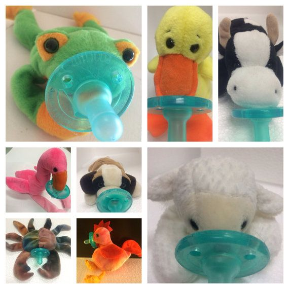 Binkyfriend Baby Newborn Soothie Pacifier With Plush Filled Animal