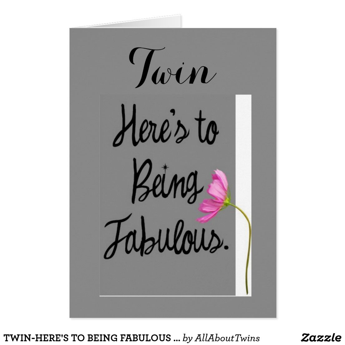 Twin heres to being fabulous birthday wishes card greeting twin heres to being fabulous birthday wishes card kristyandbryce Gallery