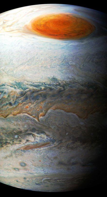 NASA HUBBLE SPACE TELESCOPE JUPITER CLOSE-UP 8x10 SILVER HALIDE PHOTO PRINT