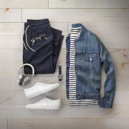 La Inspiración Que Necesitas Para Llevar El Denim Como Nunca Esta Temporada Jeans Skinny Camisas O Traj Mens Outfits Mens Casual Outfits Mens Clothing Styles