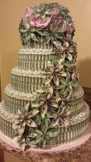 Admirable Money Cake By Mary Lyles Money Flowers Birthday Money Money T Personalised Birthday Cards Veneteletsinfo