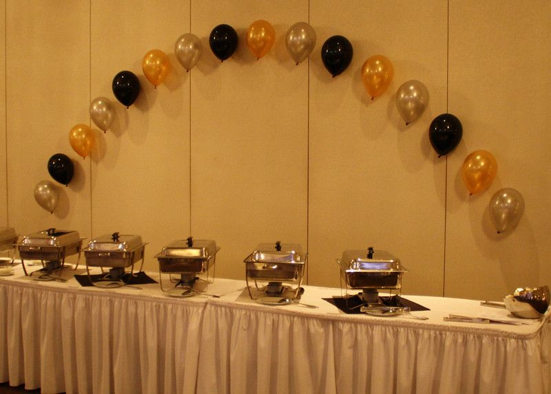Adults party centerpiece for table buffet at