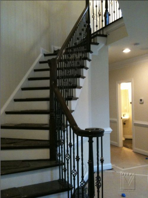 Wrought Iron Railings Mitre Contracting Inc Wrought Iron Railing Black Stair Railing Iron Stair Railing