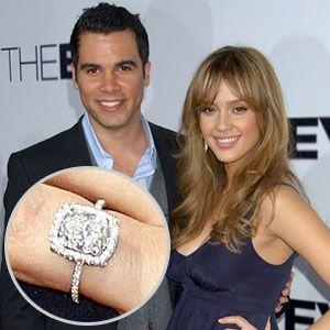 Jessica Alba S Engagement Ring Celebrity Engagement Rings