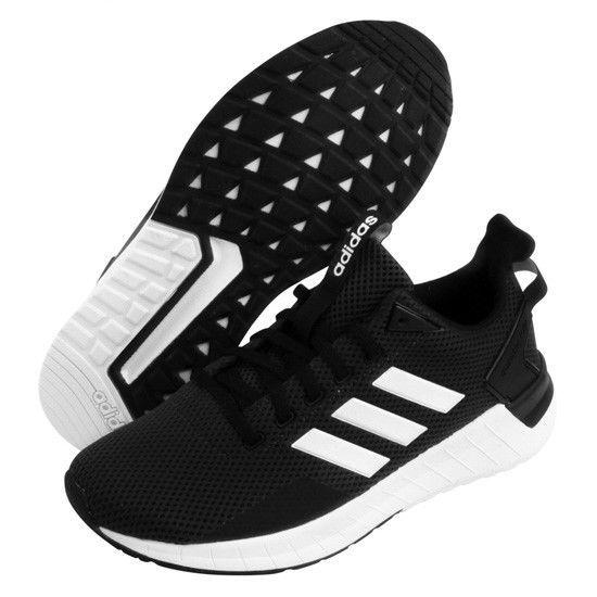 adidas questar passaggio uomini scarpe da corsa sport fitness gym di nero