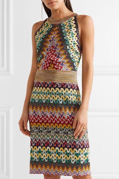 48c6c2e56f12 CROCHET//Missoni | Metallic crochet-knit dress | NET-A-PORTER.COM ...