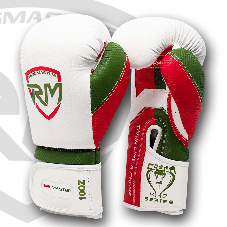 Photo of RingMaster Sports Cobra X2 Series Boxhandschuhe – Weiß / 10oz