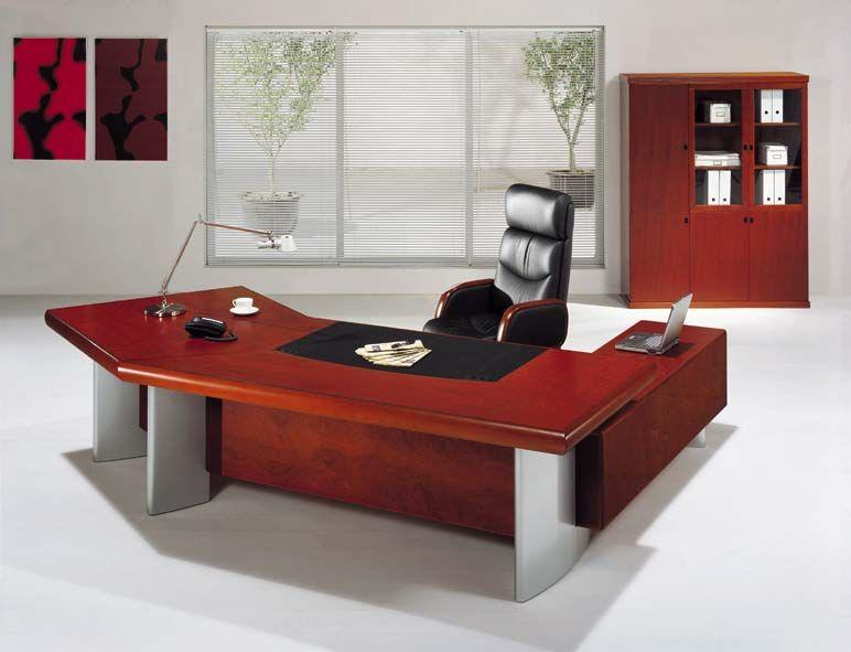 Professional Office Desk Sleek Modern Executive Company