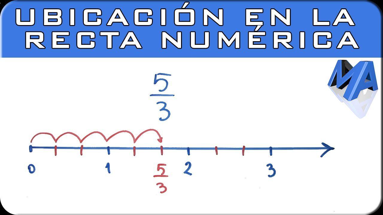 Recta Numérica Recta Numerica Lecciones De Matemáticas Fracciones