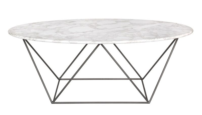 Marco Marble Oval Coffee Table Summer 2016