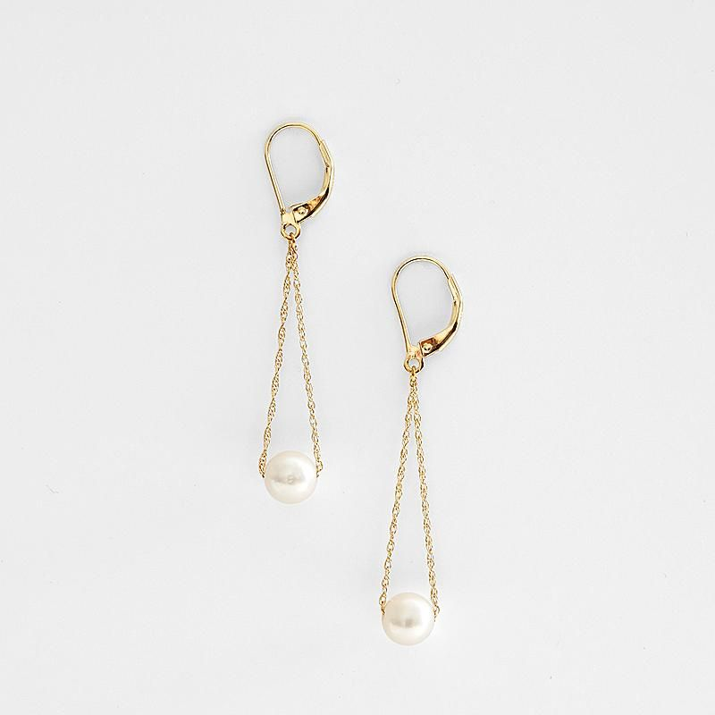 Long associated with motherhood, pearls are known to stimulate femininity. They can lift the spirits and make the wearer feel beautiful. These long drop pearl earrings are a beautiful expression of love for her. Adds a beautiful touch of glamour to any look.