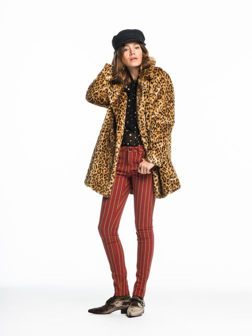 Scotch and soda leopard parka